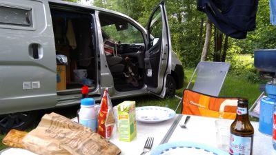 escapade au lac de Pierre-Percée: le dîner est presque prêt!