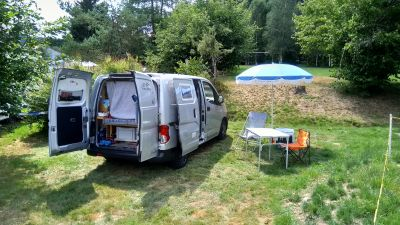 dans un petit camping tranquille à proximité de Gérardmer (Vosges)