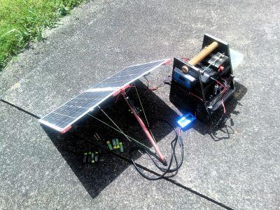 Sur les starting-blocks, recharge de toutes les batteries avant le départ ;-)