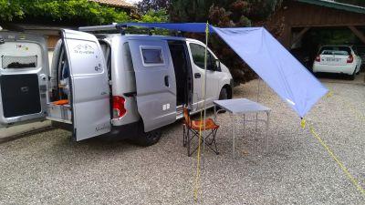 ajout d'un tarp à Nimbus (premiers essais à domicile)